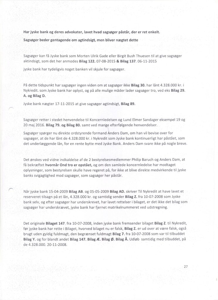 Main suspect in Danish bank fraud case Jyske BANK Anders Dam, Jyske Bank suspected of million scams and corruption. Philip Baruch Advokat og Partner I Lund Elmer Sandager Les.dk Thomas Schioldan Sørensen rodstenen.dk - Lundgrens advokater. Dan Terkildsen. Rødstenen advokater. bestyrelsen Jyske Bank Sven Buhrækall. Kurt Bligaard Pedersen. Rina Asmussen. Philip Baruch. Jens Borup. Keld Norup. Christina Lykke Munk. Johnny Christensen. Marianne Lillevang. Anders Christian Dam. Niels Erik Jakobsen. Per Skovhus. Peter Schleidt. #Bank #AnderChristianDam #Financial #News #Press #Share #Pol #Recommendation #Sale #Firesale #AndersDam #JyskeBank #ATP #PFA #MortenUlrikGade #GF Maresk #PhilipBaruch #LES #LundElmerSandager #Nykredit #MetteEgholmNielsen #Loan #Fraud #CasperDamOlsen #NicolaiHansen #JeanettKofoed-Hansen #AnetteKirkeby #SørenWoergaaed #BirgitBushThuesen #Gangcrimes #Crimes #Koncernledelse #jyskebank #Koncernbestyrelsen #SvenBuhrkall #KurtBligaardPedersen #RinaAsmussen #PhilipBaruch #JensABorup #KeldNorup #Chri